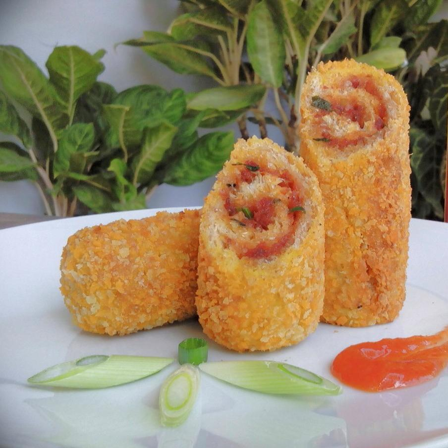 Cara Membuat Roti Gulung Kornet, Creative Food id, CreativeFood, Food Creative, traditional food